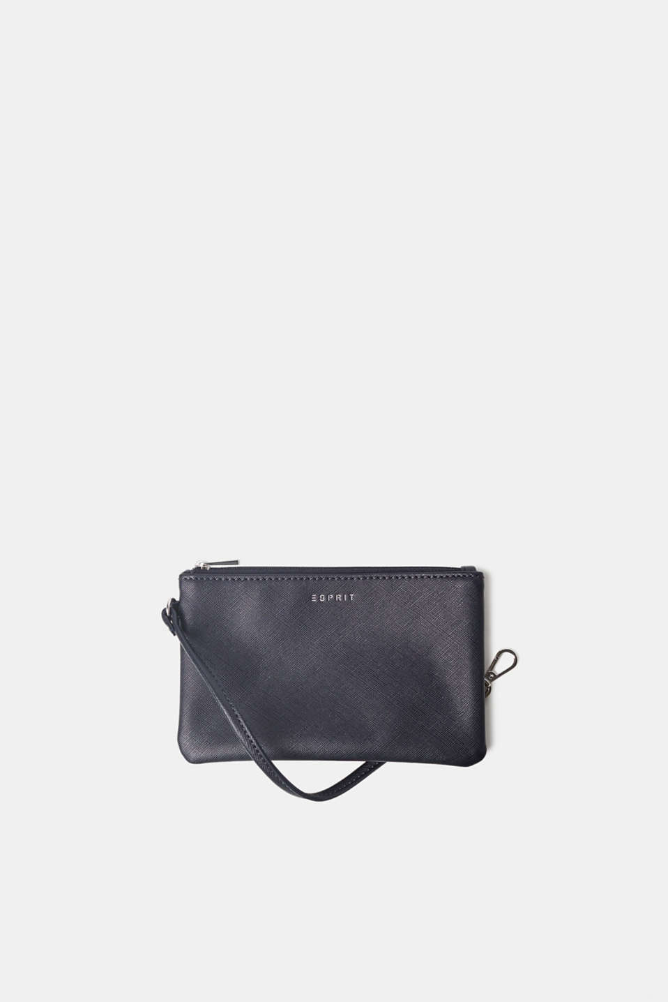 Esprit - Small zip bag in textured faux leather