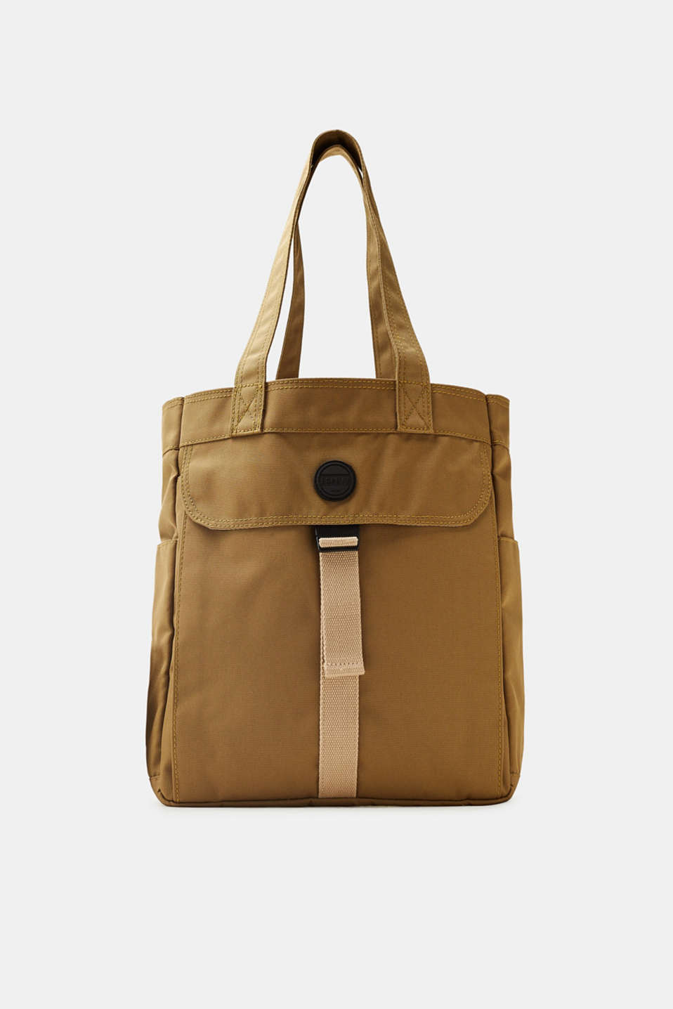Esprit - Tote bag in robust canvas with a large front pocket