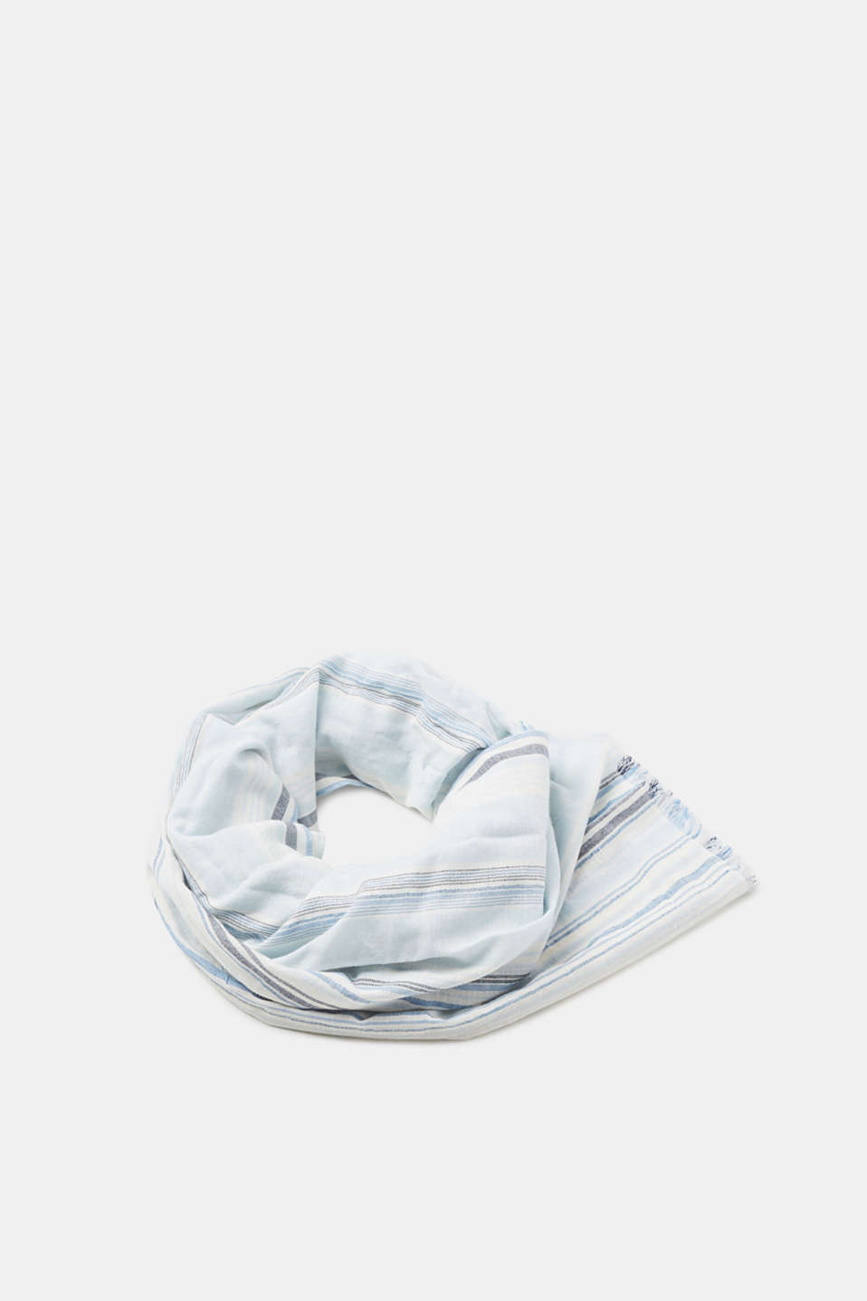 Esprit - Striped woven scarf in linen