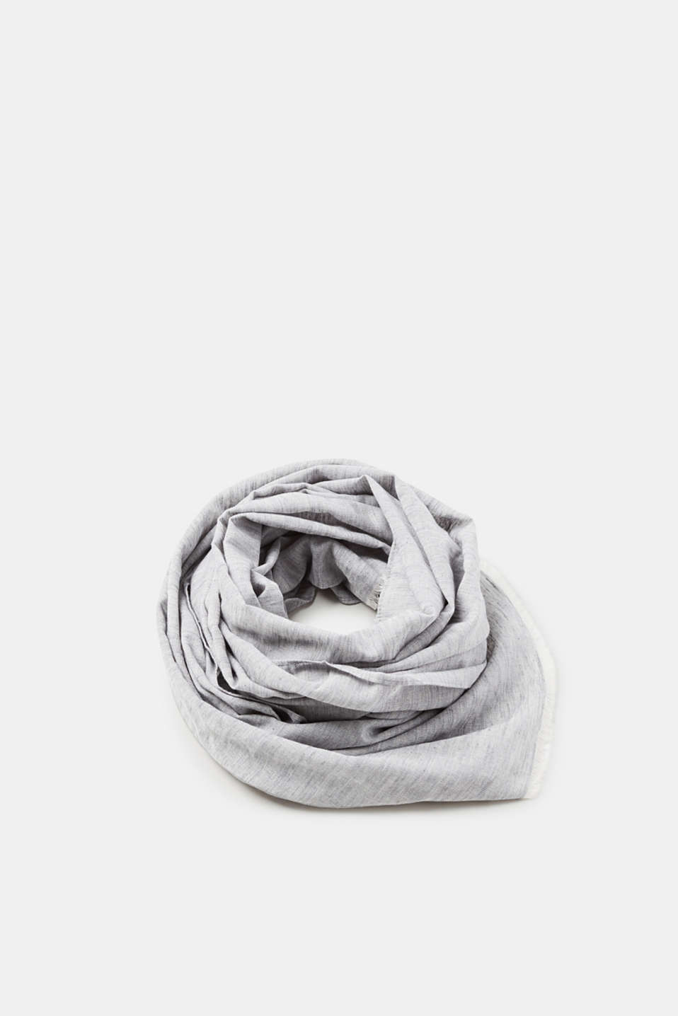 Esprit - Lightweight scarf with fine fringing, in cotton