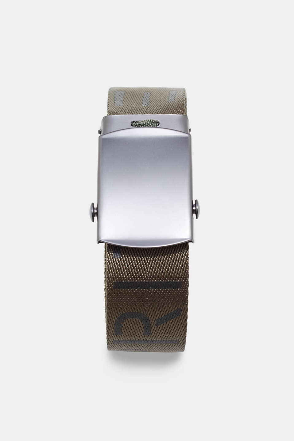Esprit - Woven belt with logos and plaque buckle
