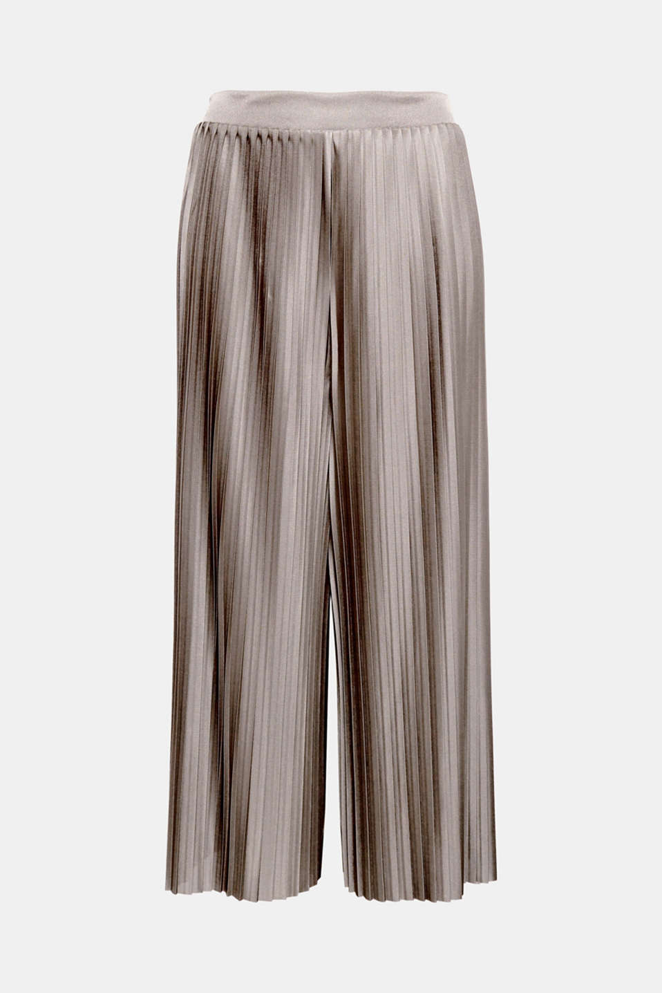 Chic, stylish and so comfy, these wide trousers feature pleats, an elasticated waist and an elegant, shimmering finish!