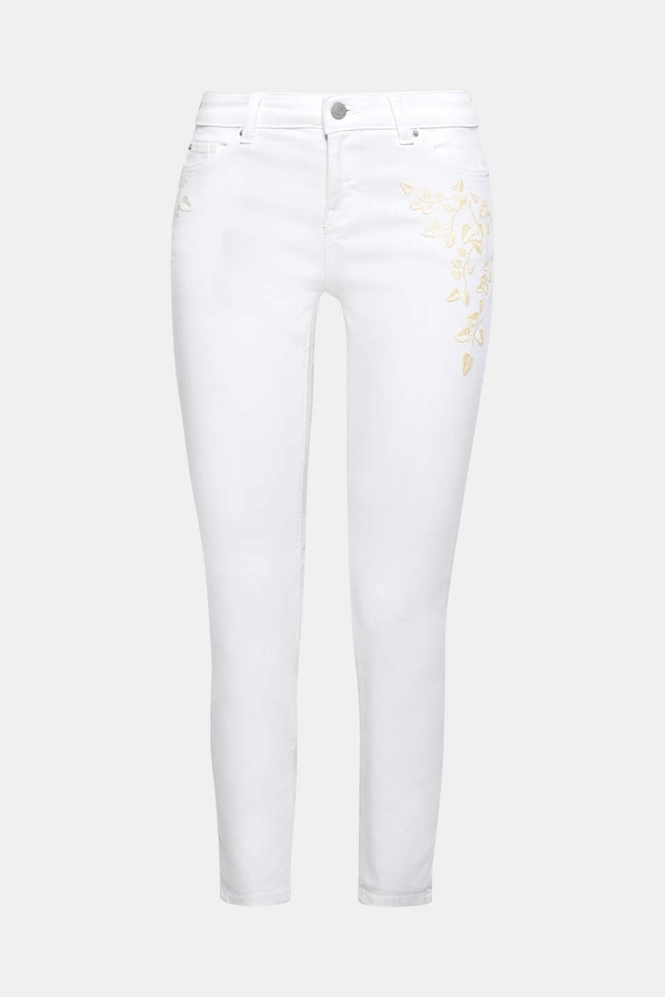 For a fresh summer look! These jeans are a finely decorated denim favourite thanks to the floral embroidery.