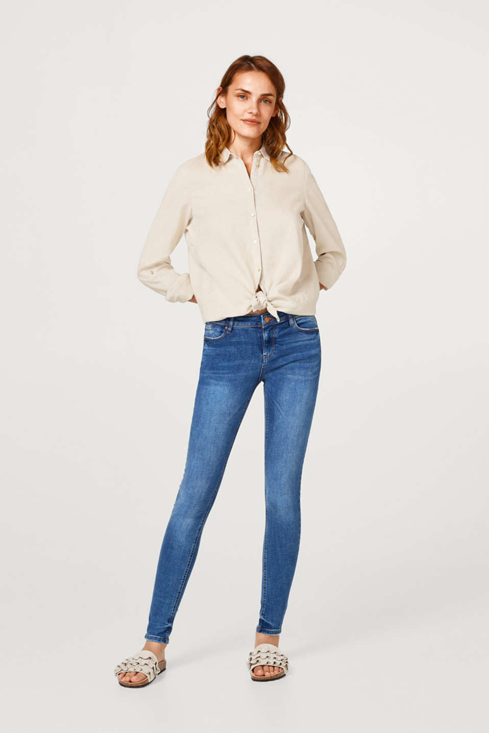 Esprit - Super stretch jeans with a perfect fit