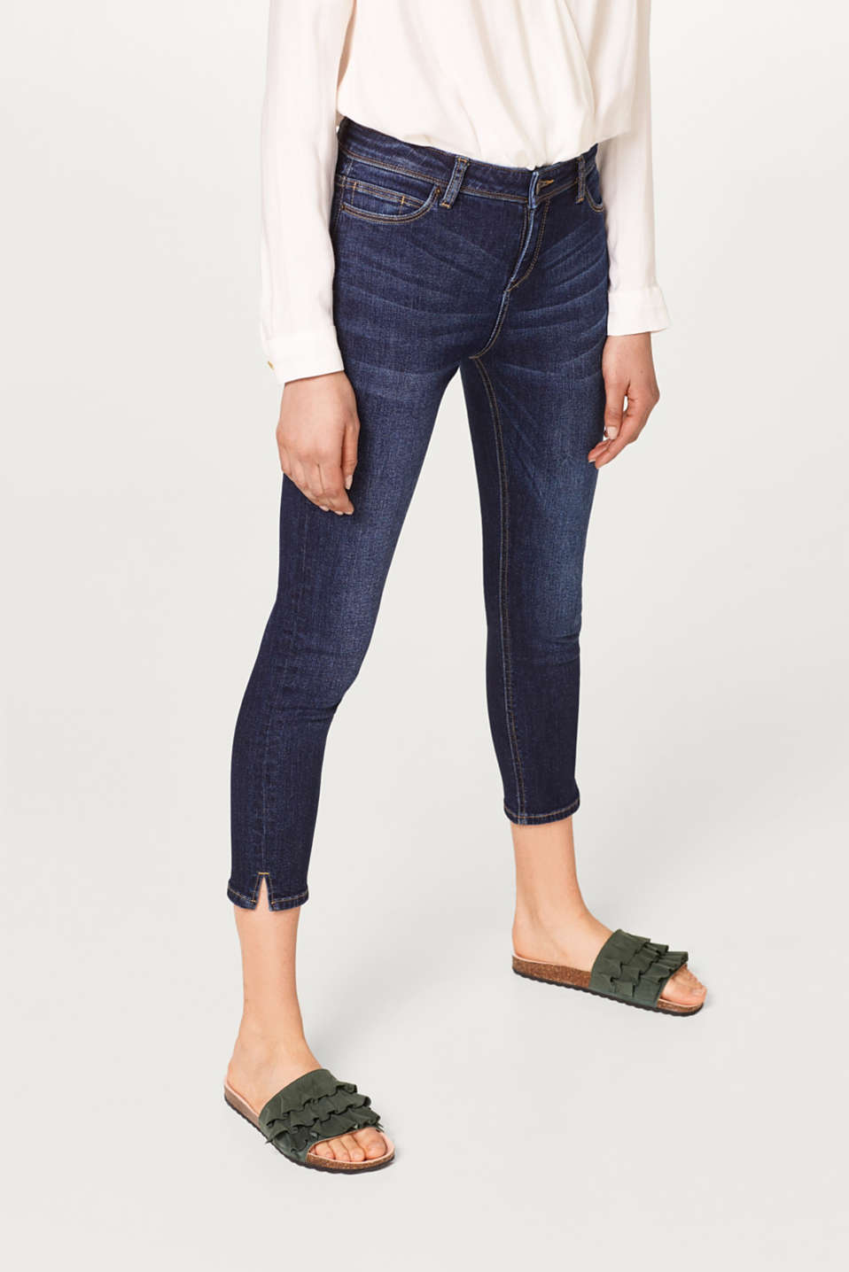 Esprit - Stretchy, summery capri length jeans