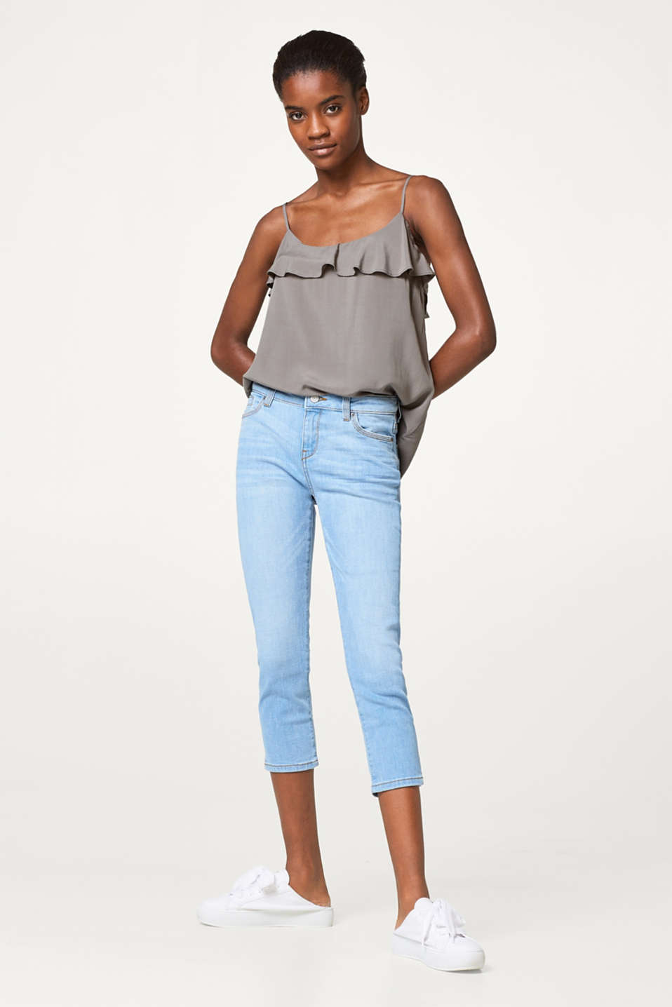 Esprit - Light stretchy capri length jeans