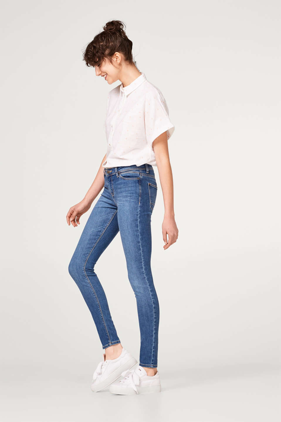 Esprit - Stretch jeans with fashionable ticket pocket