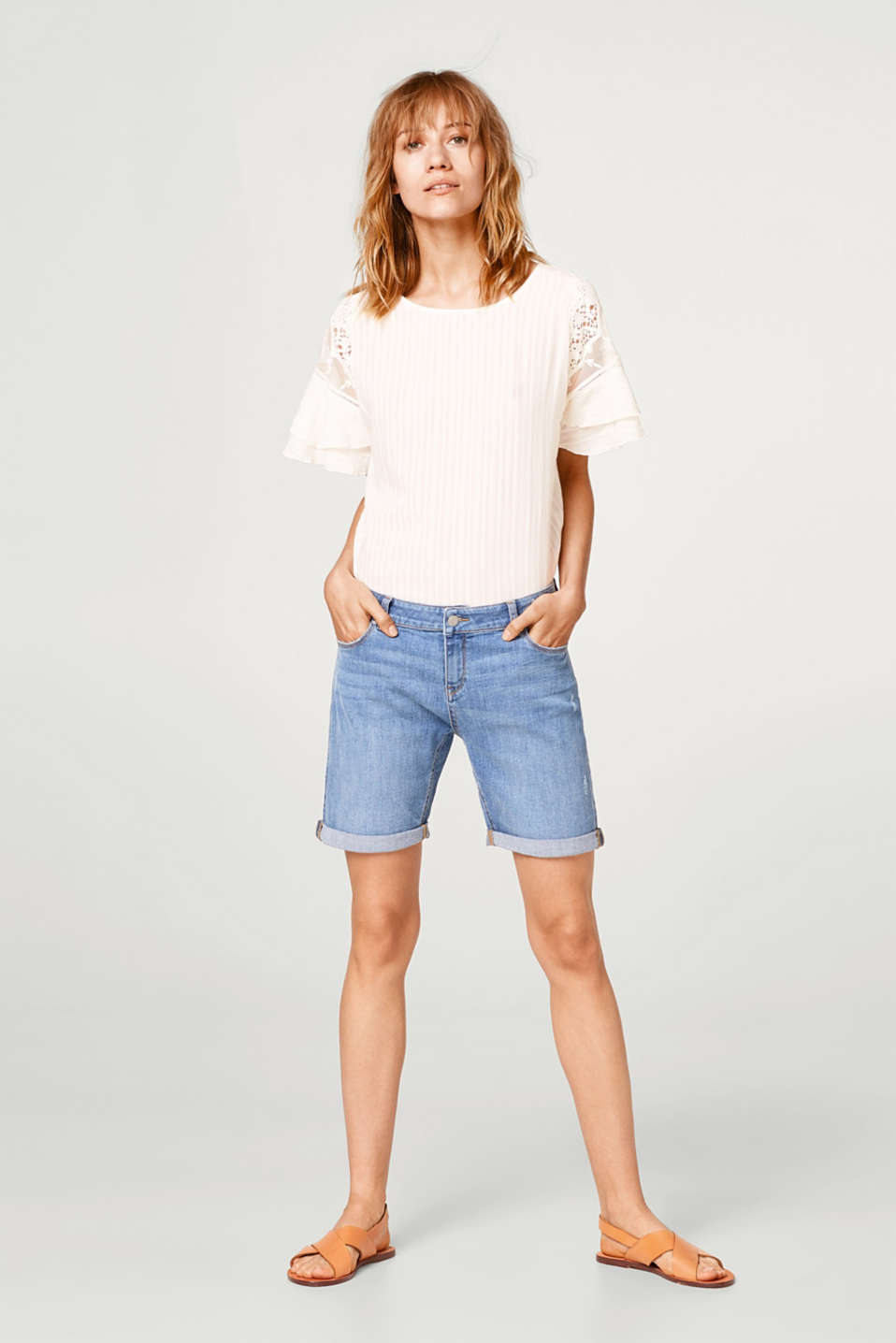 Denimshorts med stretch