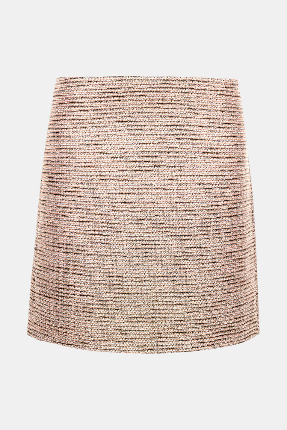 Colour, glitter and texture give this slightly flared mini skirt its modern, lavishly luxurious look!