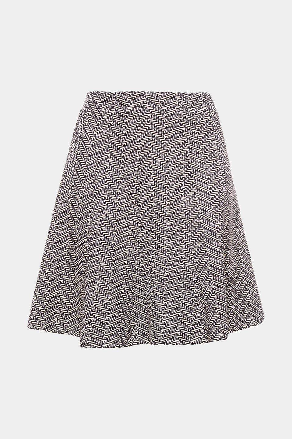 With its wide silhouette and distinctive zigzag texture, this piece will add movement to your look: skirt in compact jersey with an elasticated waistband.