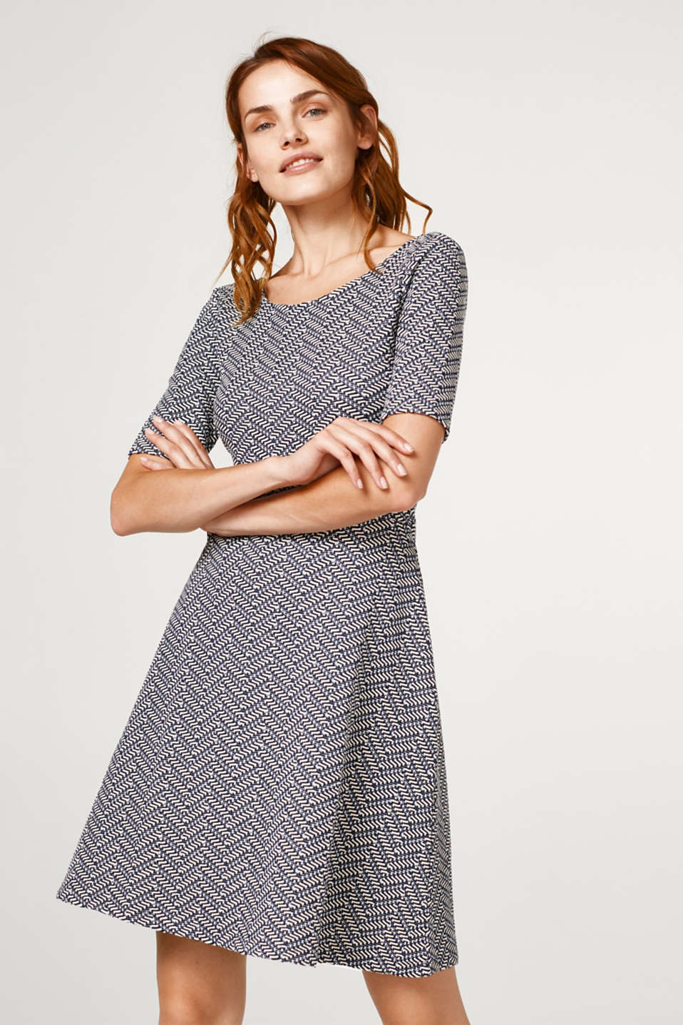 Esprit - Textured compact jersey dress