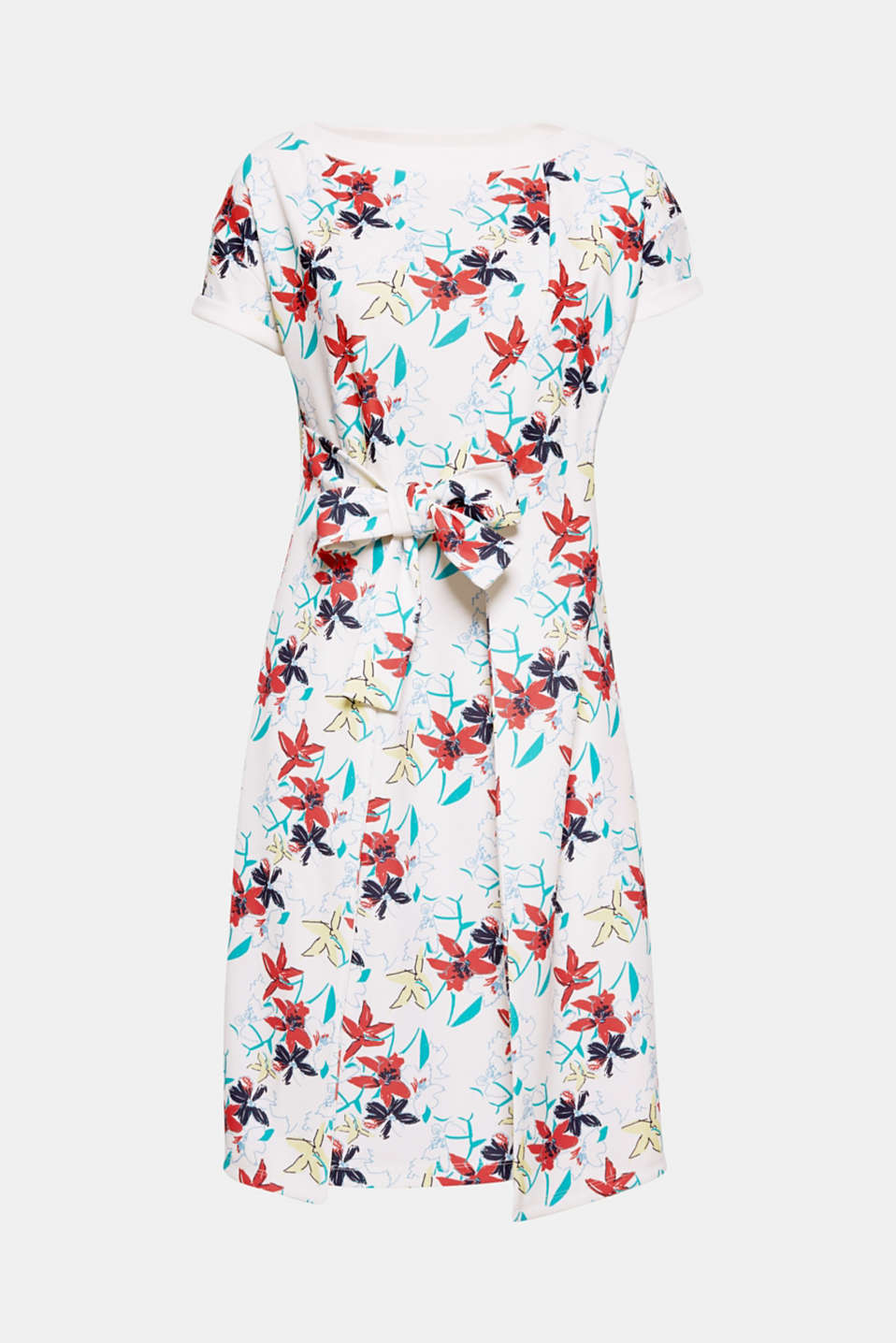 The casual fit, stylish floral print and knotted front section make this dress in thick stretch jersey a fashion piece!