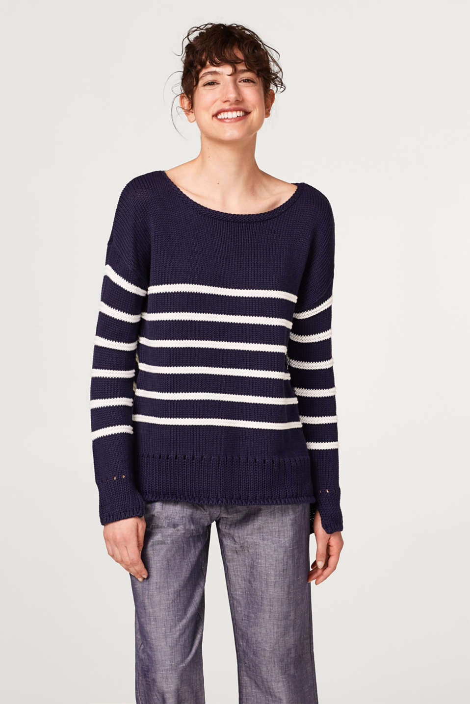 Esprit - Soft chunky knit jumper in cotton