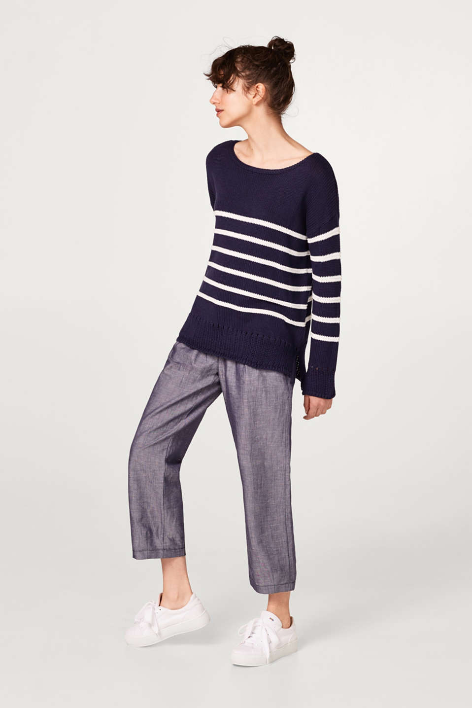 Soft chunky knit jumper in cotton