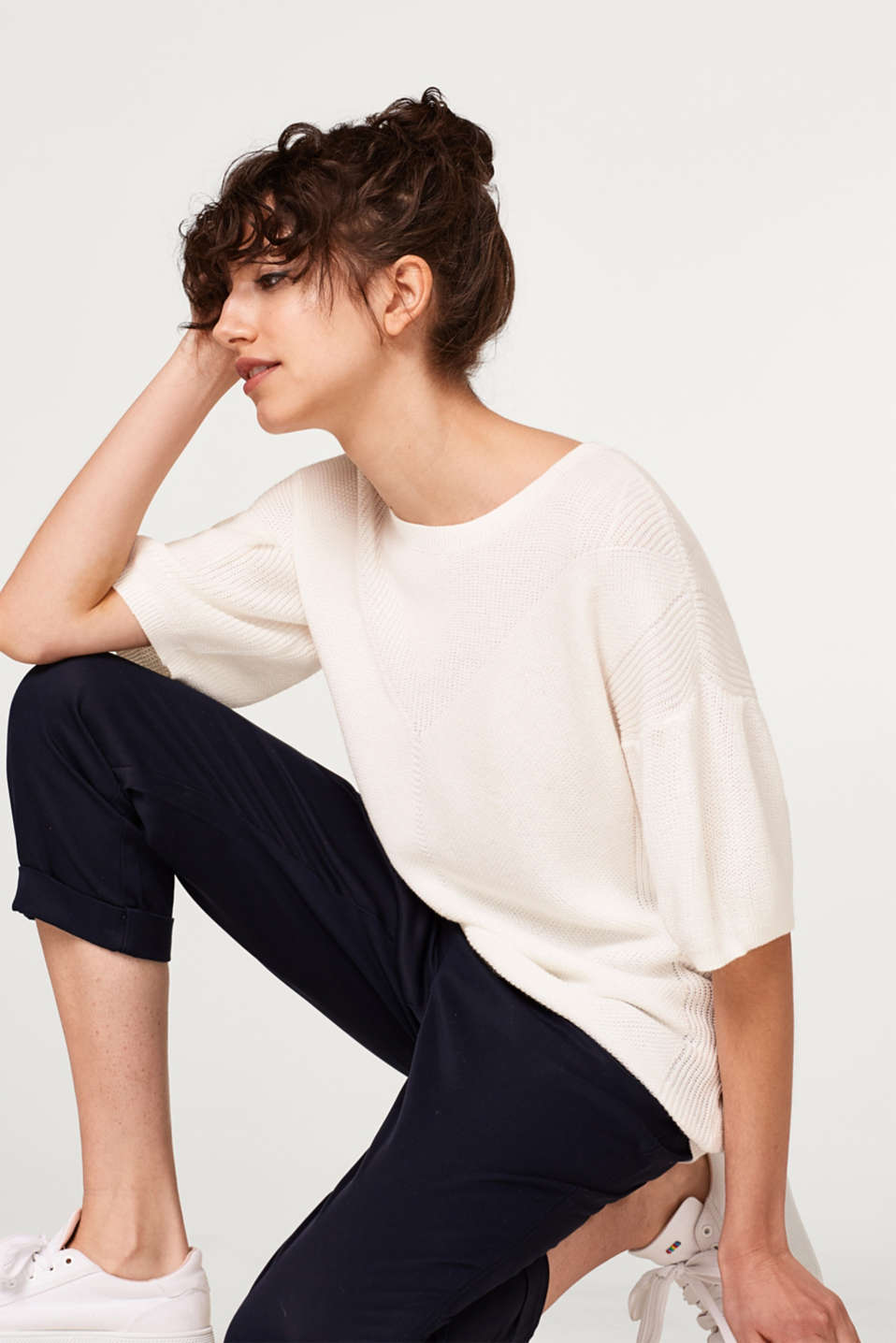 Esprit - Soft textured jumper in a cotton blend