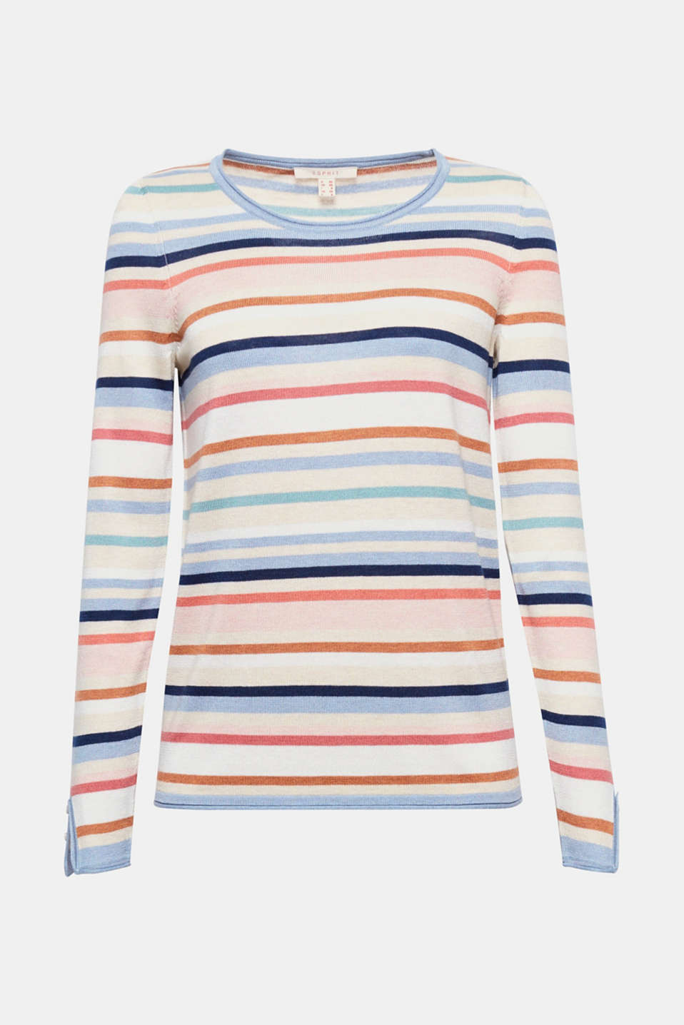 Soft knit with colourful stripes: This jumper with a casual rolled edge is exceptionally comfortable and unfussy!