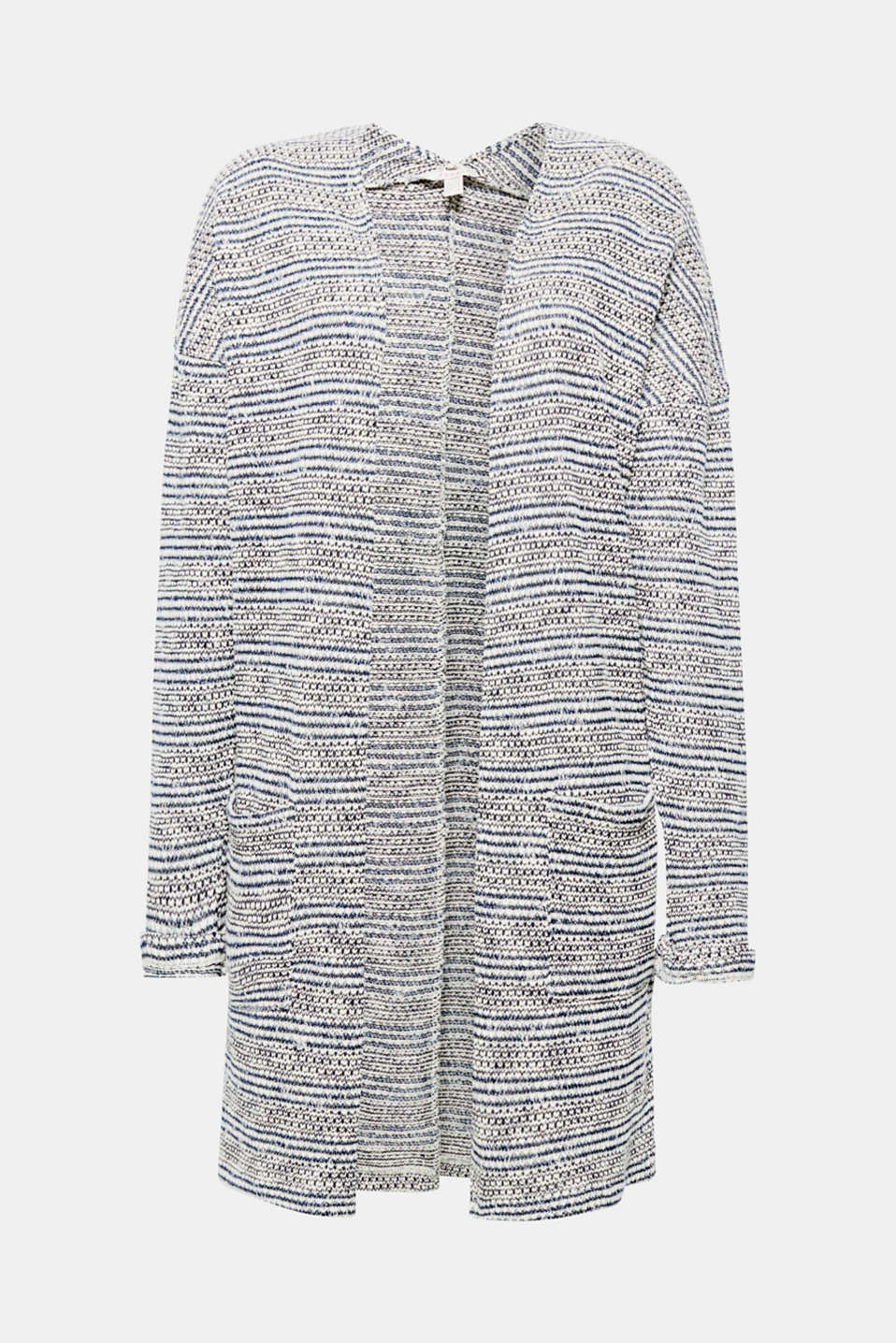 This cardigan will make a great addition to your outfits thanks to the airy jersey fabric.