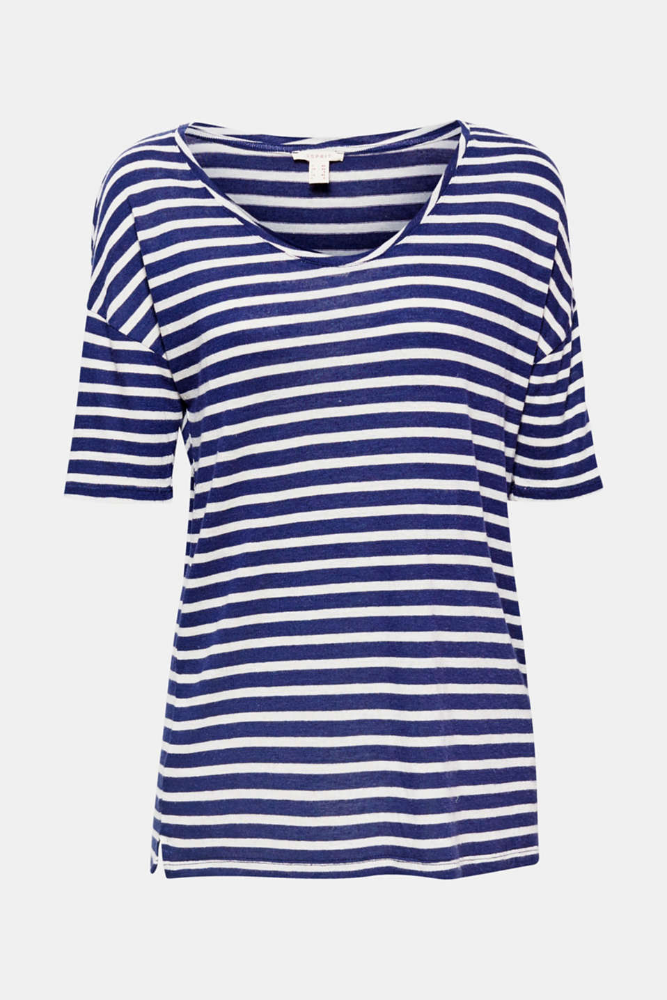 Softly draped, soft on the skin: this casual striped top with airy linen will instantly enchant you with its look and comfort!