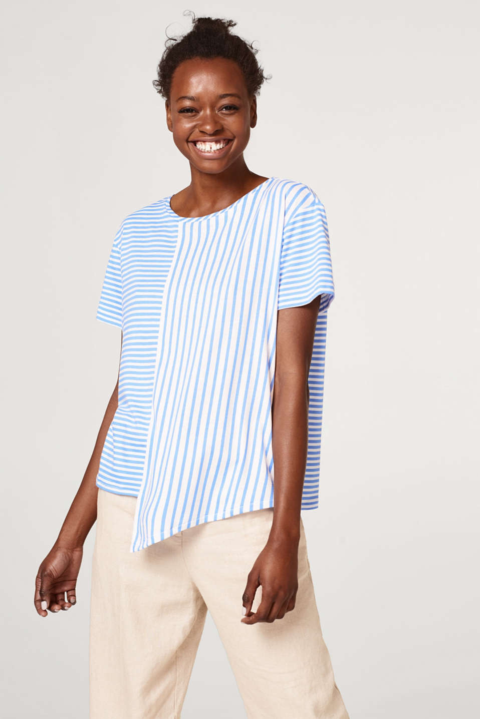 Esprit - Soft top in a modern combination of stripes