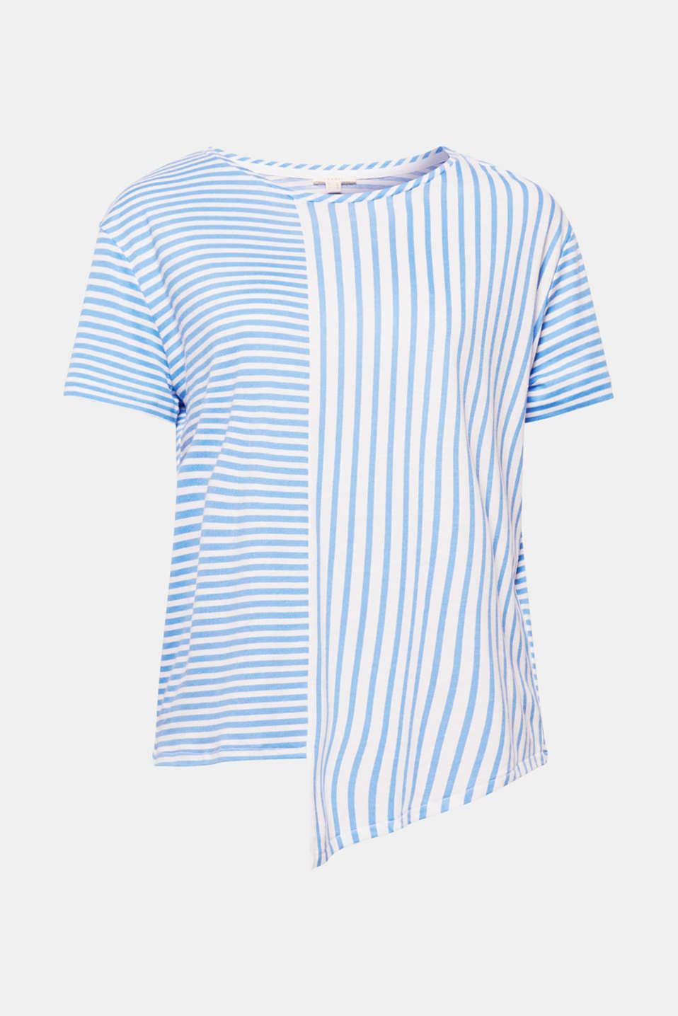Bold stripes characterise this soft top in a casual cut with an asymmetric hem. Easy to mix and match whilst also looking stunning!