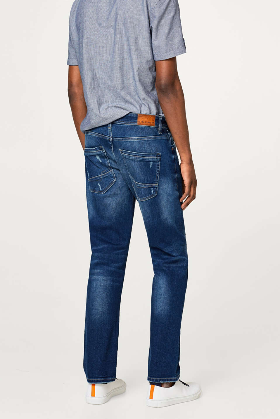 Stretch jeans with slight vintage effects