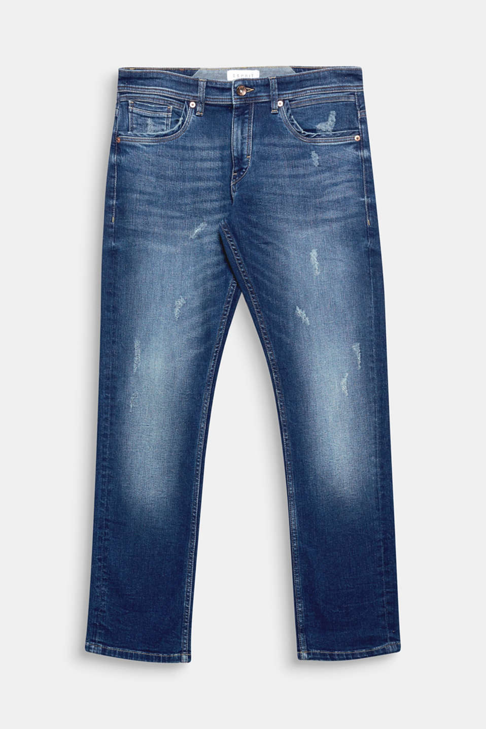 We love denim! The stunning vintage effects, and the light stone wash gives these five-pocket jeans a high-quality look.