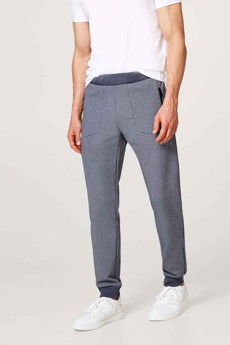 Esprit - Melange tracksuit bottoms with zip pockets
