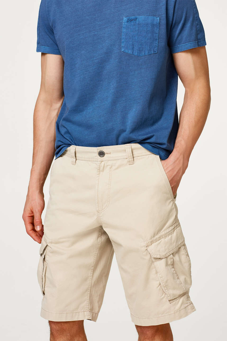 Esprit - Pure cotton cargo shorts