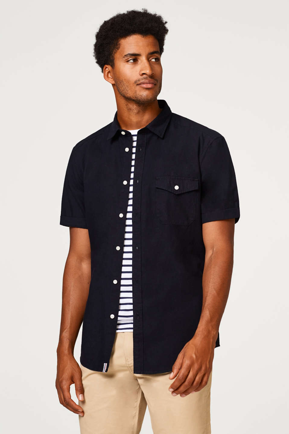 Esprit - Short sleeve shirt in pure cotton