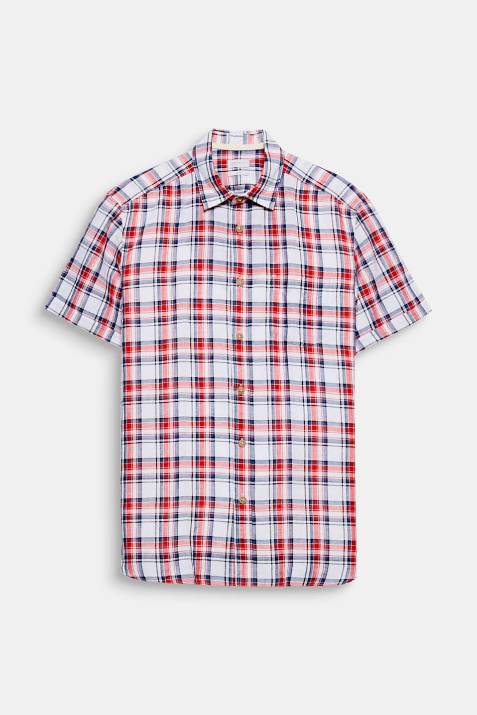 This checked short sleeve shirt is perfect for the summer thanks to its linen blend.