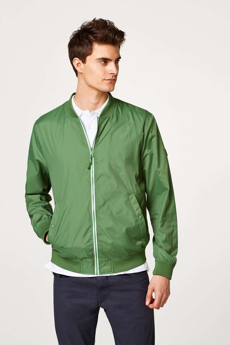 Esprit - Lightweight nylon bomber jacket