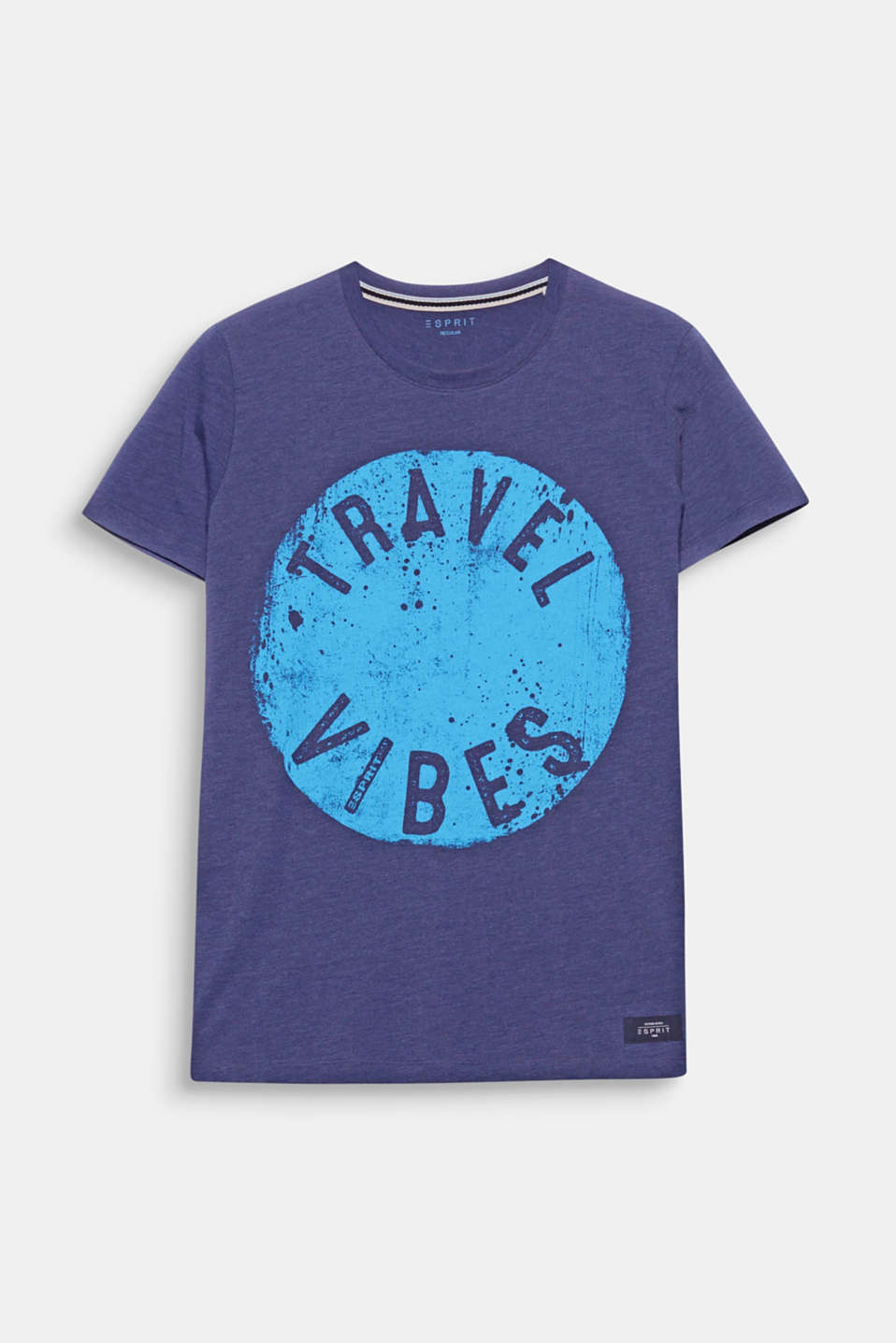 Melange jersey plus a vintage print - a super cool look for this t-shirt in comfortable, pure cotton!