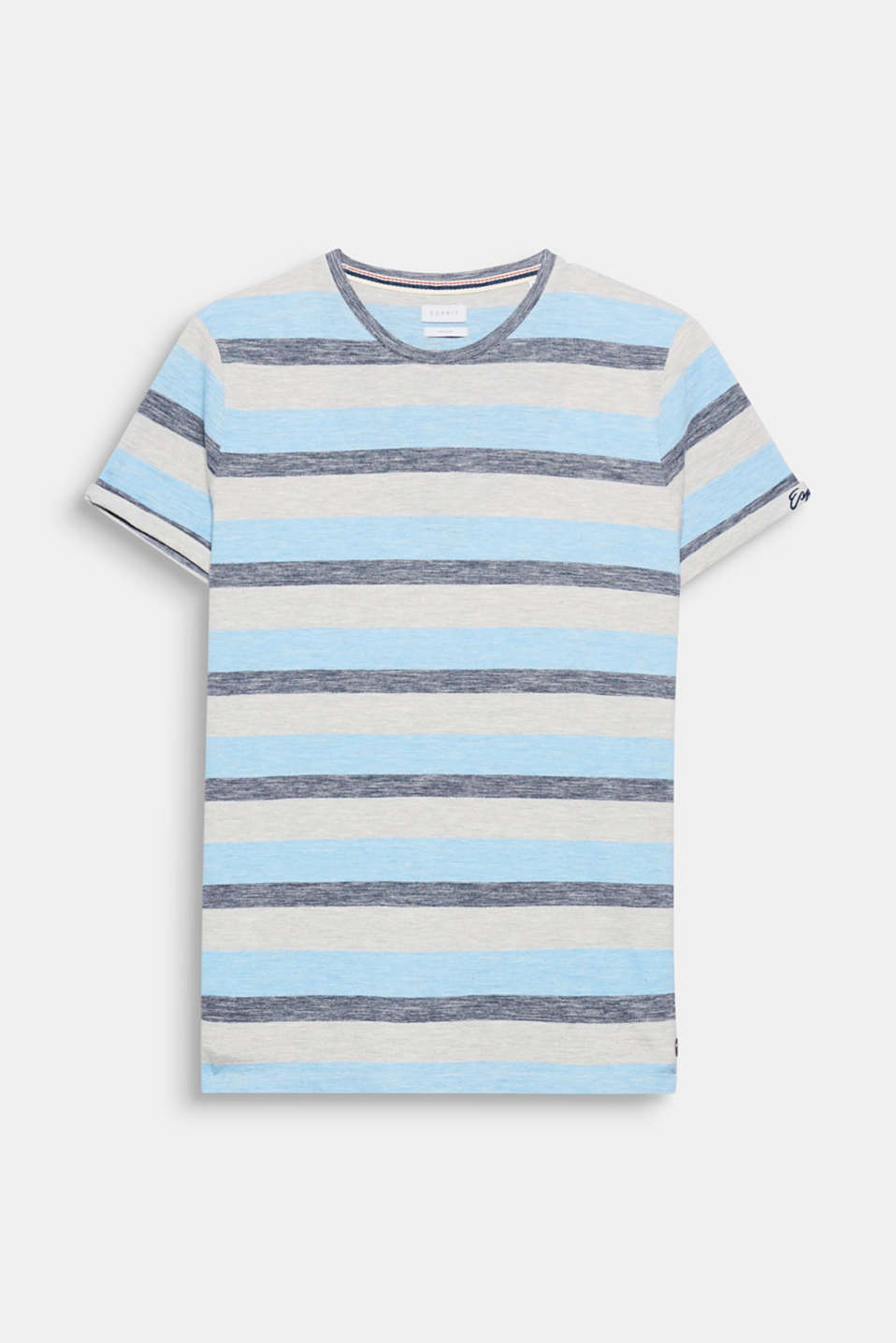 This striped T-shirt in cotton-piqué is your fashion essential for a wide range of summer outfits.