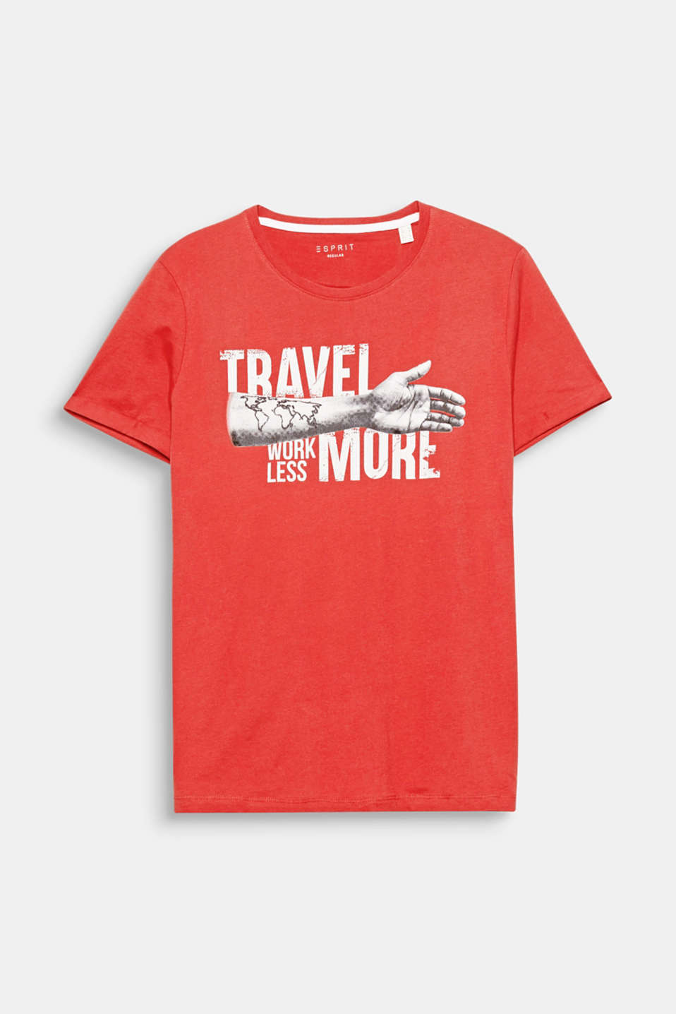 Travel more, work less! One statement, one print on this pure cotton jersey-shirt
