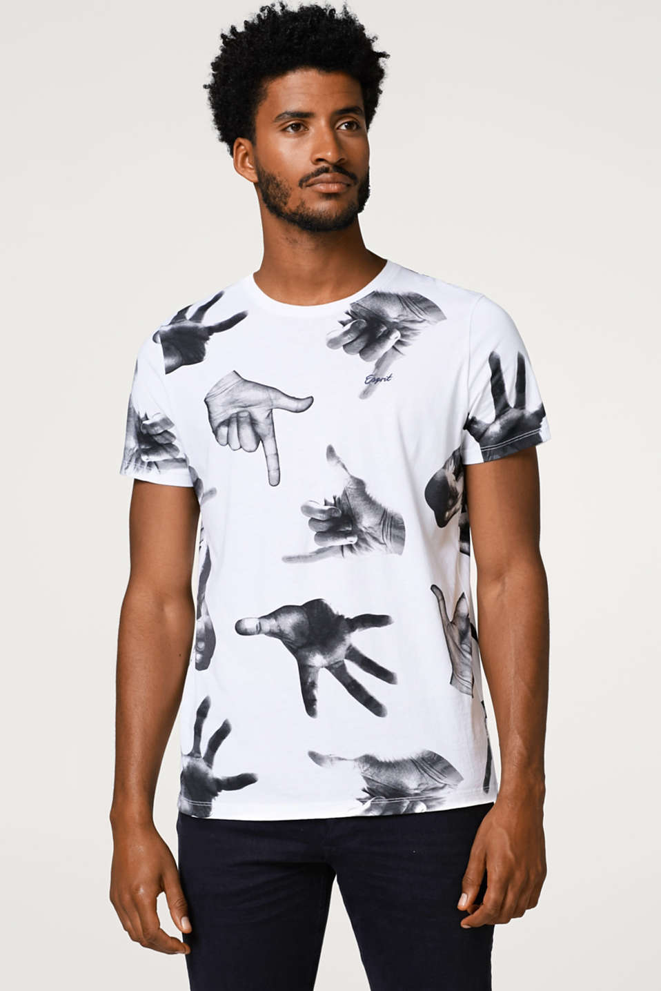 Esprit - Jersey T-shirt with a photo print, in cotton