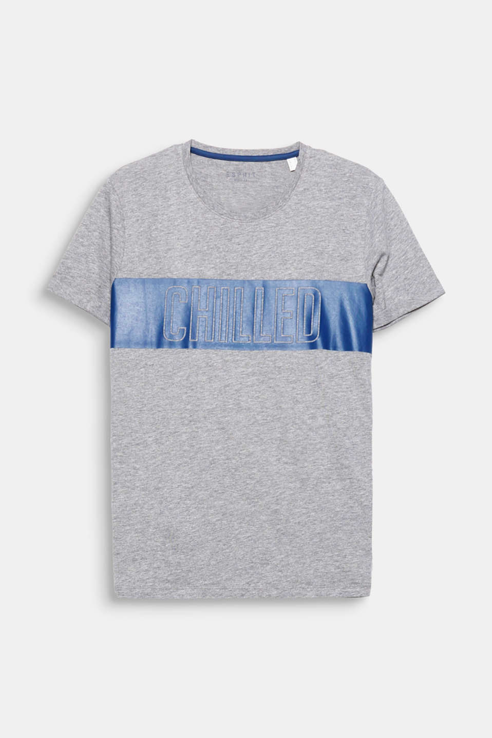 Chilled! One print, one statement – on this T-shirt made of a fine cotton blend.