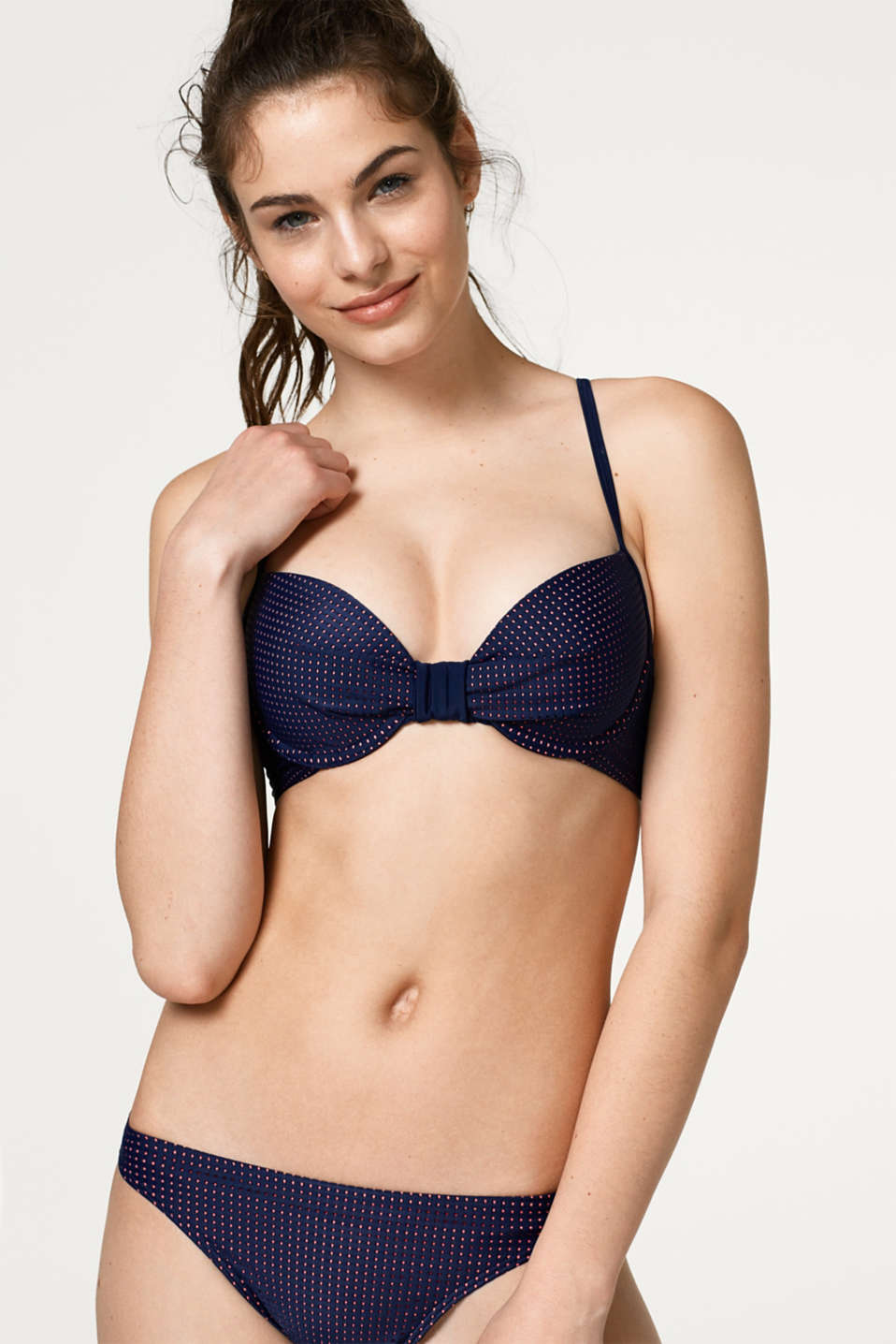 Esprit - Padded underwire top in airy mesh