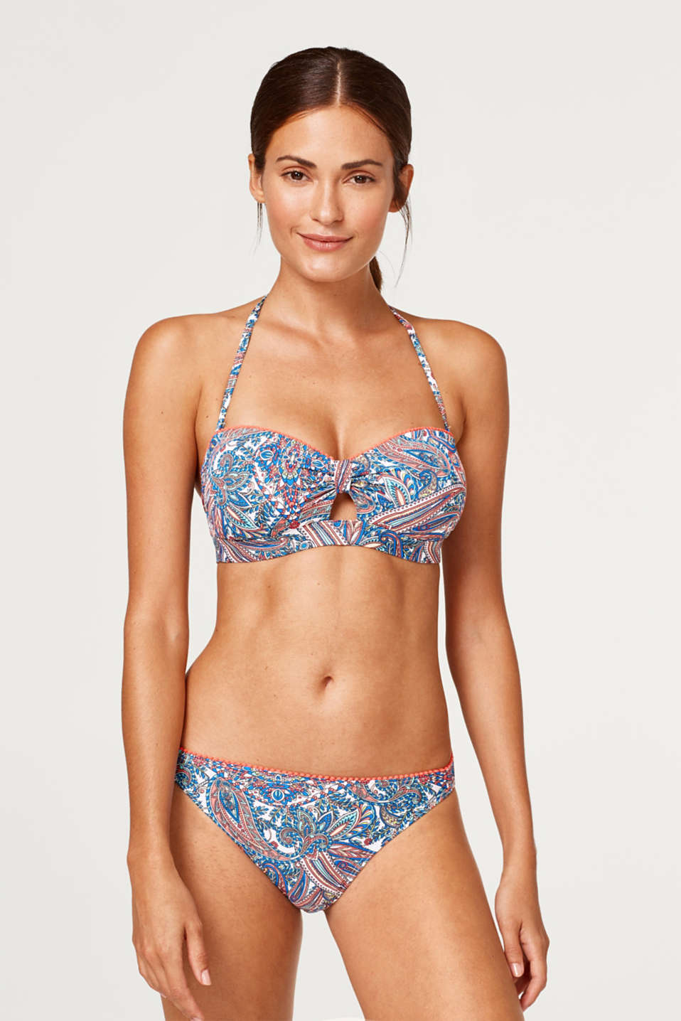 Esprit - Padded bandeau top with a paisley print