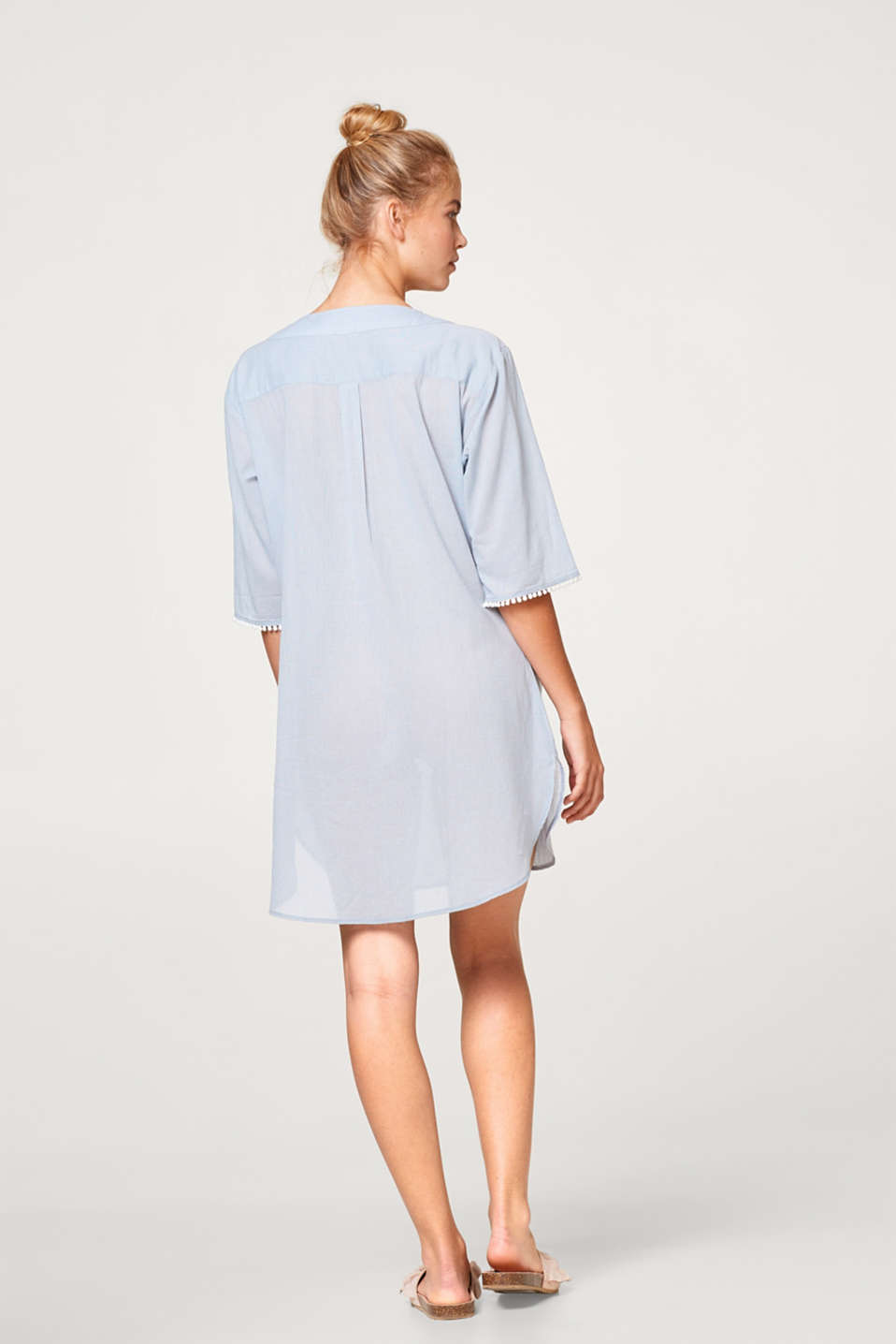 Lightweight tunic with embroidery, 100% cotton