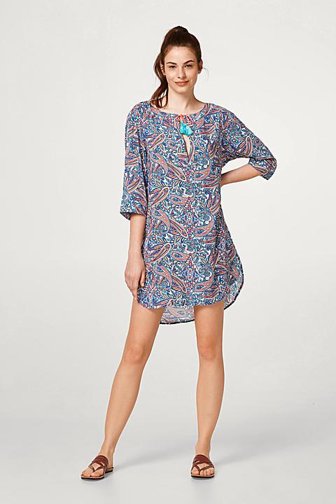 Tunika-Kleid mit buntem Paisley-Print