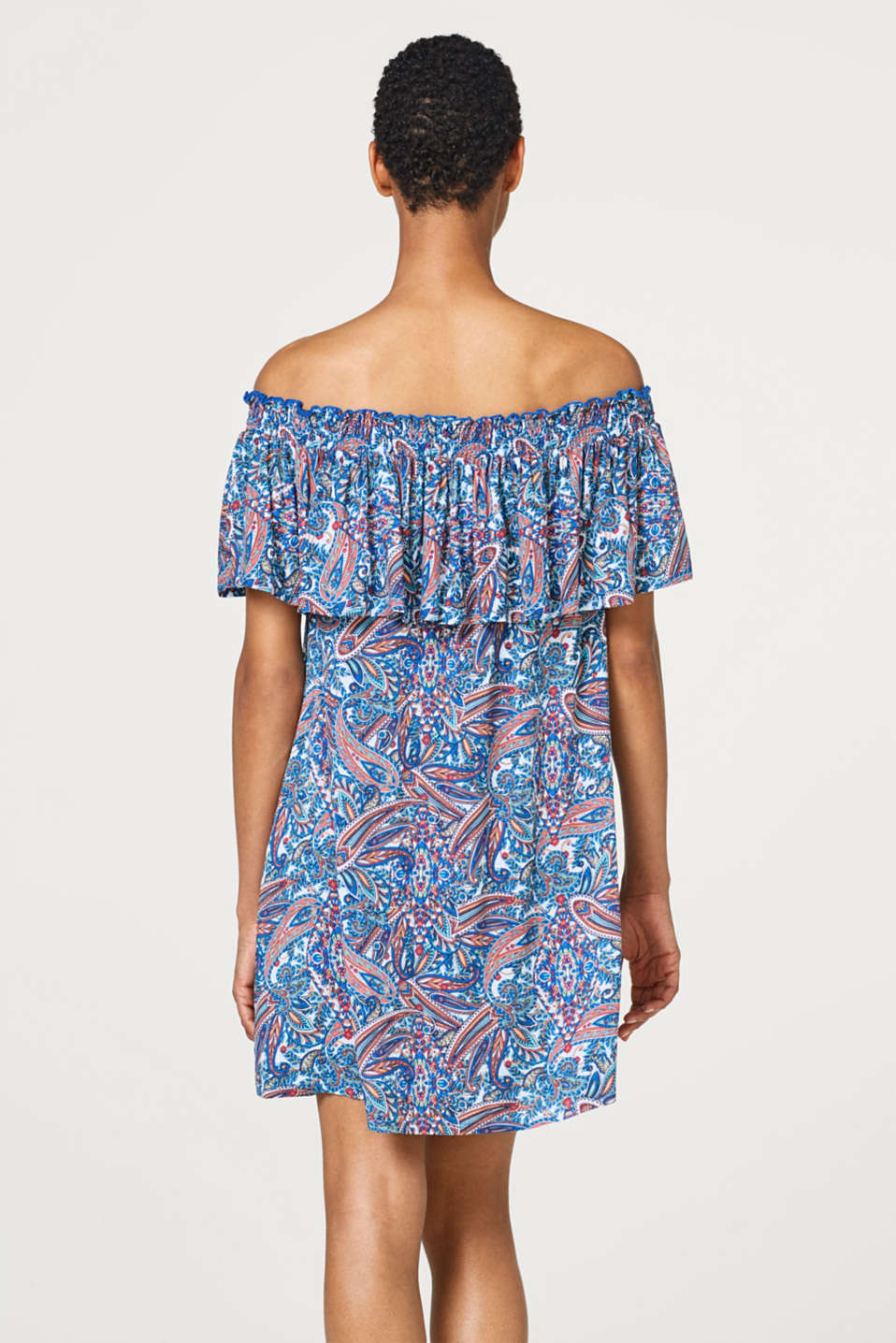 Off-Shoulder-Kleid mit Paisley-Print