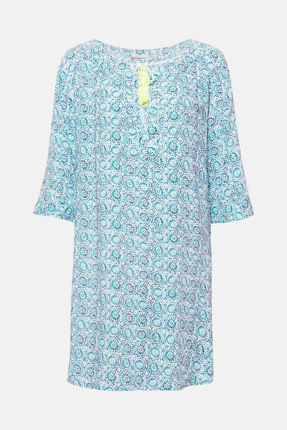 RAVINE BEACH collection – the perfect enhancement to your bikini or swimsuit: tunic with a decorative ornamental print