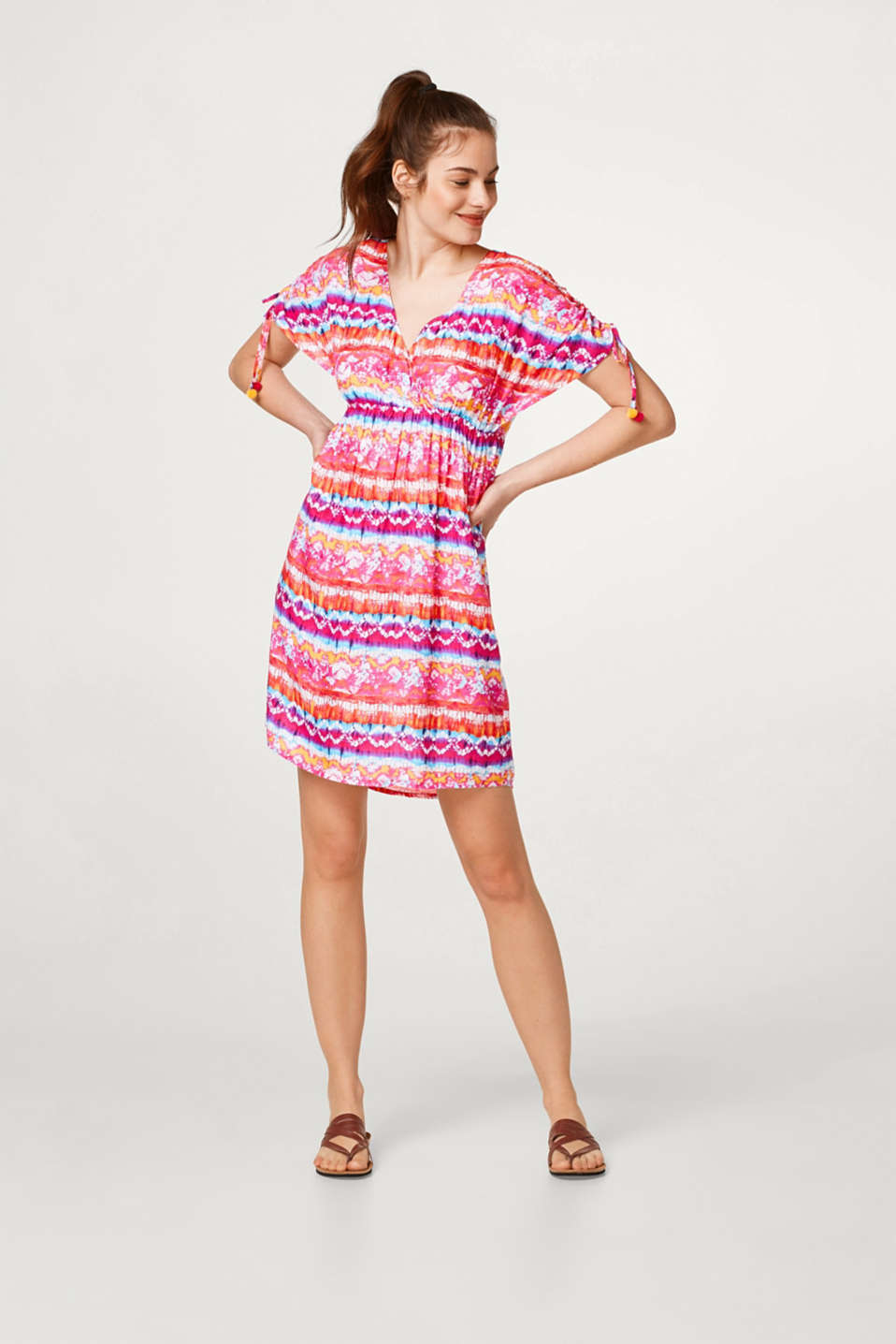 Esprit - Light and airy beach dress with a colourful print