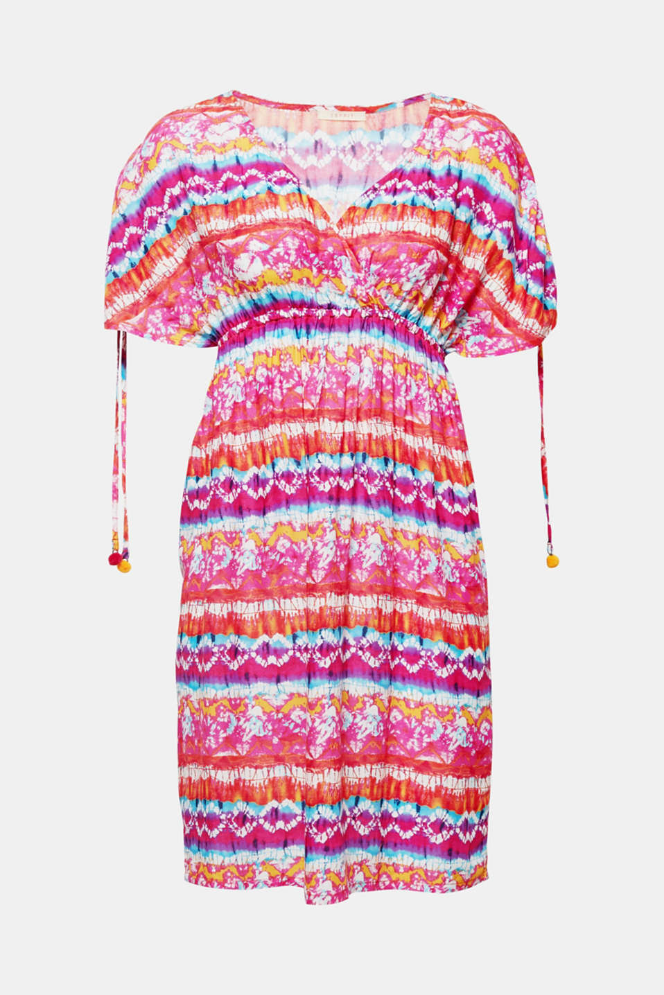 BALBOA BEACH collection – this beach dress is a bright, eye-catching piece with vibrant colour gradation and tassels on the sleeves.