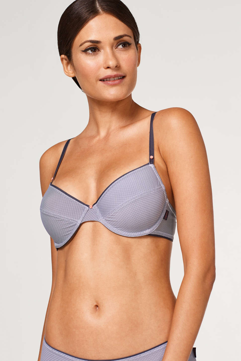 Esprit - Unpadded, underwire top with mini print