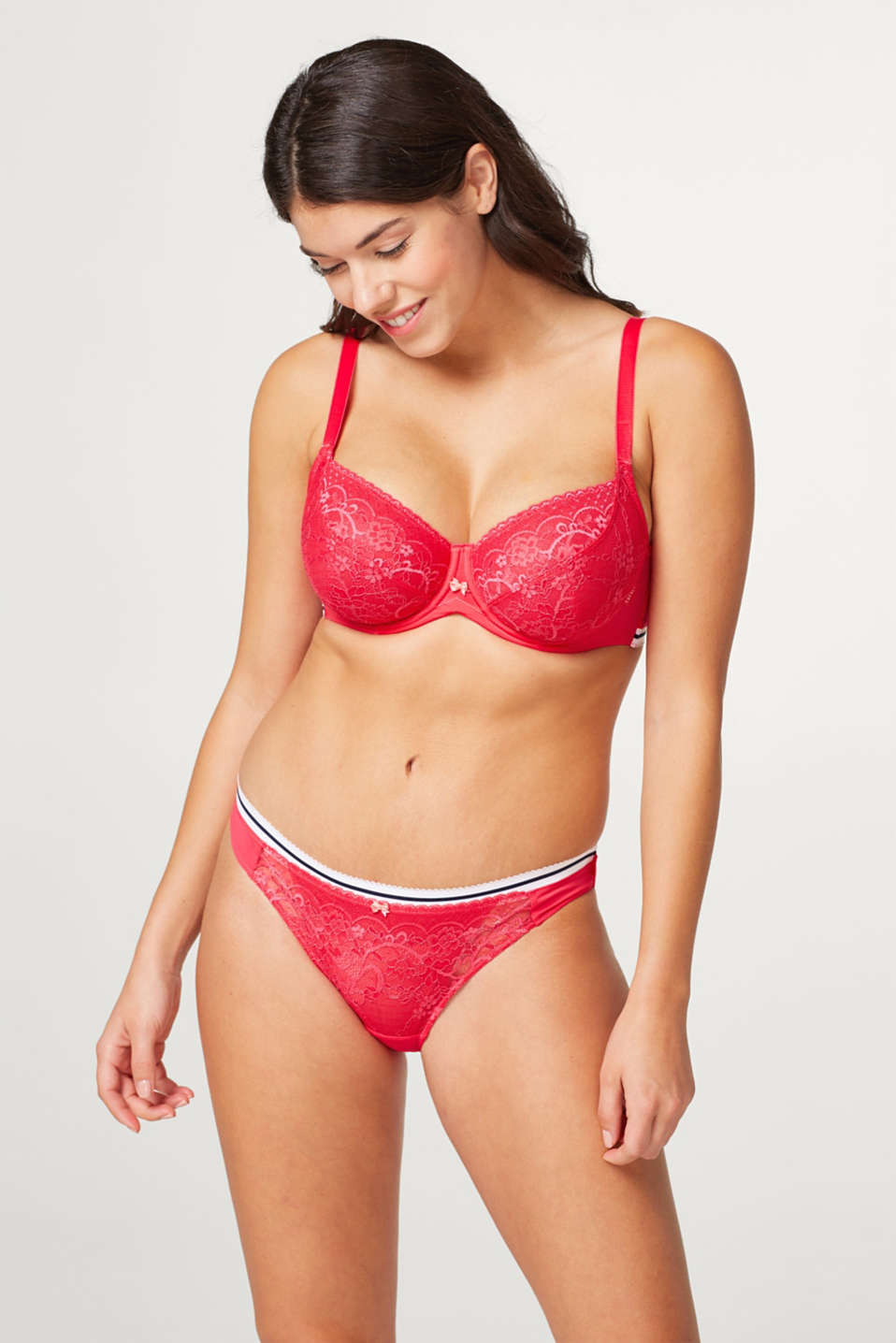 Esprit - Unpadded underwire bra in lace, made especially for larger cup sizes
