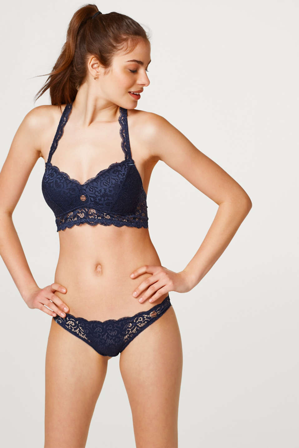 Esprit - Padded, non-wired bra in decorative lace