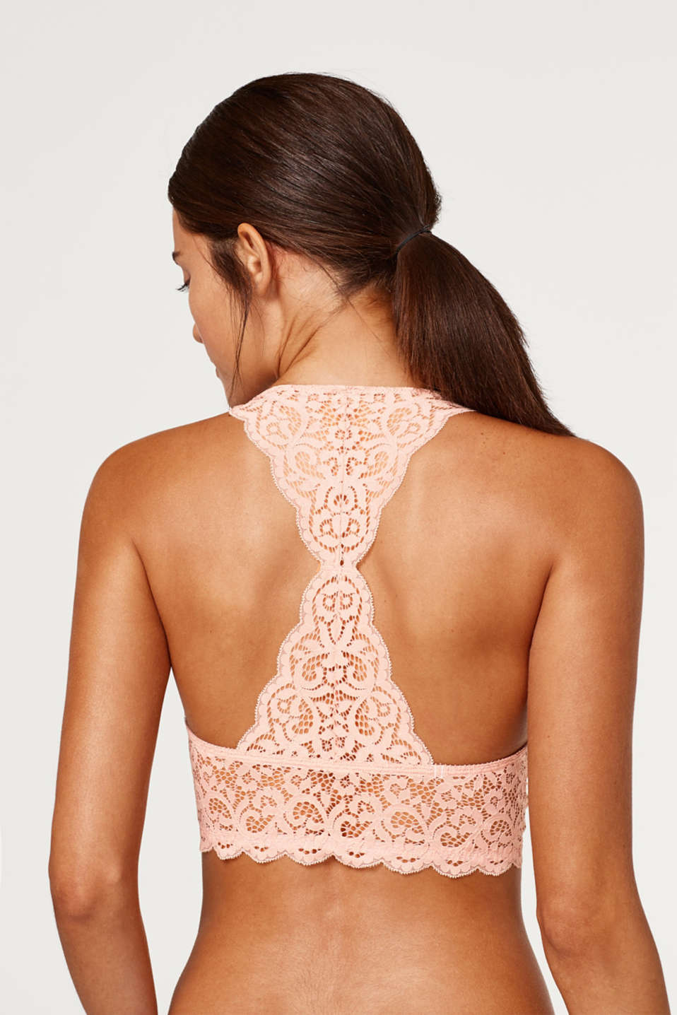 Padded, non-wired bra in decorative lace
