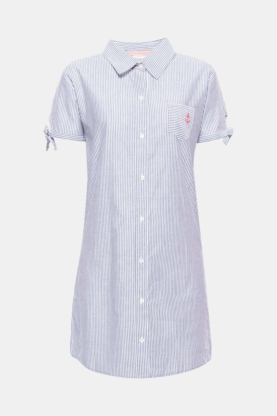 What could be lighter and more comfy? Striped nightshirt in ultra lightweight cotton fabric in a casual boyfriend style.