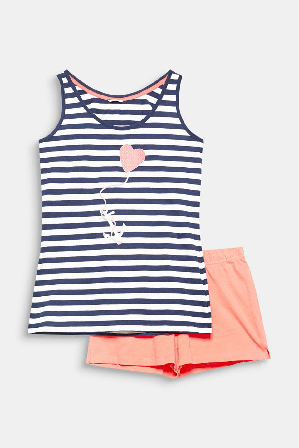 A refreshed nautical look: two-tone stripes and a slightly shiny anchor print make it happen!